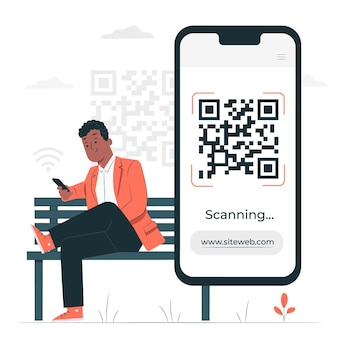 Qr code concept illustration