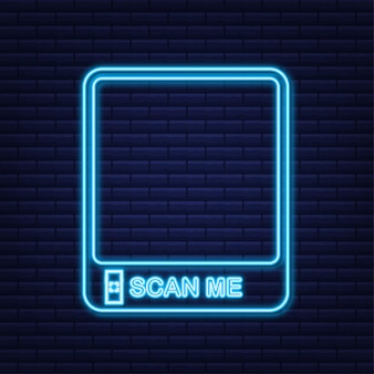 모바일 앱, 결제 및 전화용 qr 코드. 날 스캔해.