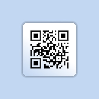 Qr code icon in trendy flat style isolated