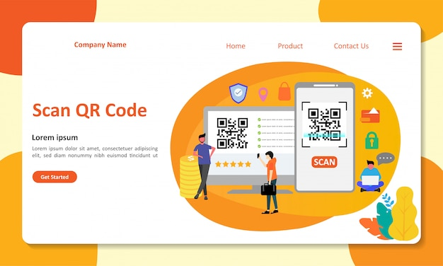 Qr code landing page