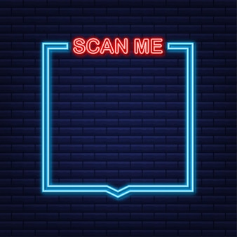 Qr code for mobile app, payment and phone. scan me.