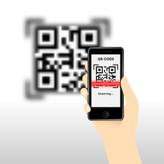 Qr code for mobile payment, digital code easy pay