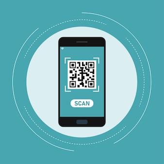 Qr code scan online  via smartphone