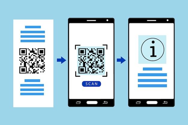 스마트 폰의 qr 코드 스캔 단계