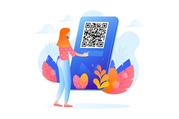 Qr code scan with character