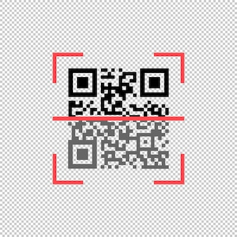 Qr code scanning icon. vector on isolated white background. eps 10.
