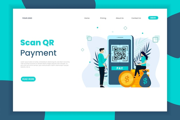 Qr code scanning landing page for site