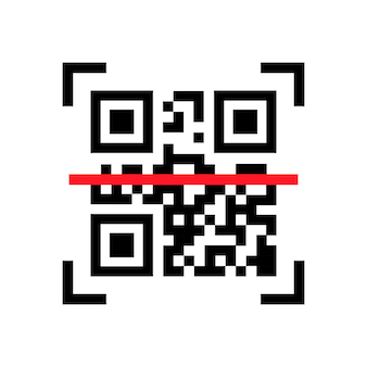 Qr code scanning. scan me. read bar code, mobility, generating app, coding. icon recognition or reading qr code in flat style.