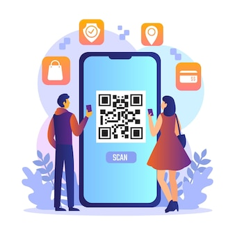 Qr code scanning with characters