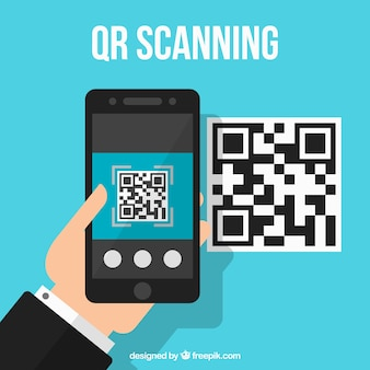 Qr code technological background