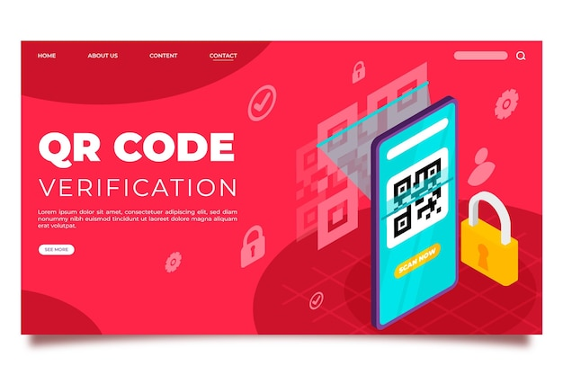 Qr code verification landing page template