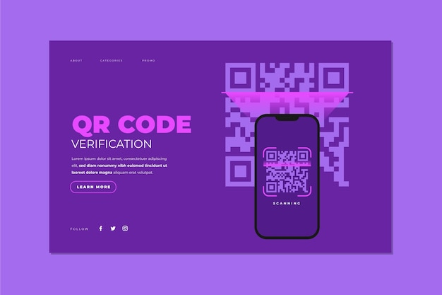 Qr code verification - landing page