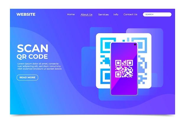 Qr code verification landing page