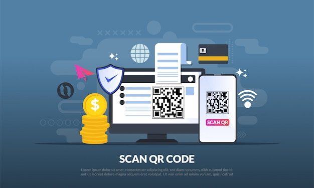 Qr code for web landing page