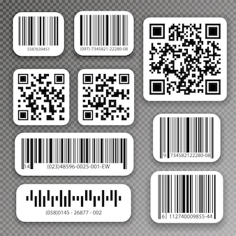 Qr codes and barcode labels. industrial barcode labels.