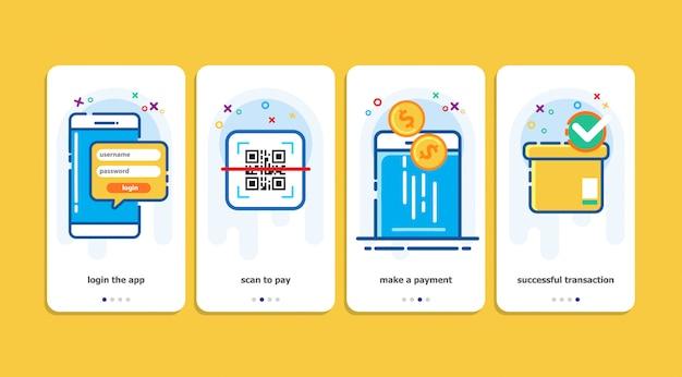 Qr payment methode vector illustration