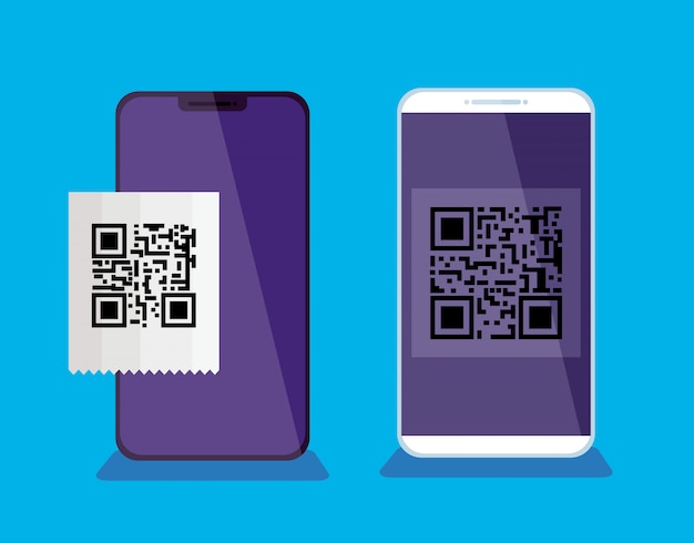 スキャンコードqrのスマートフォン