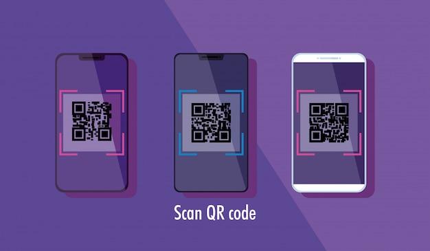 スマートフォンでqrコードをスキャンする