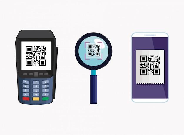 Установить код и элементы сканирования qr