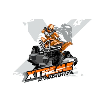 Quad bike off-road atv logo, extreme adventure