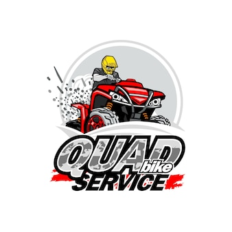 Quad bike service logo