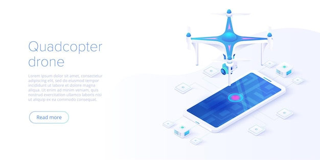 Quadcopter with smartphone remote control concept
