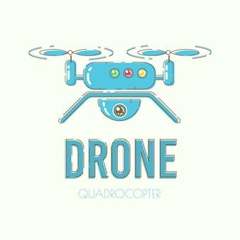 現代quadcopterドローンベクトルバナーテンプレート