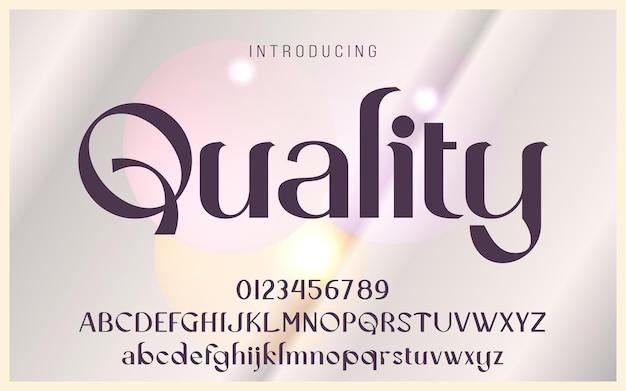 高品質のアルファベット表示フォント