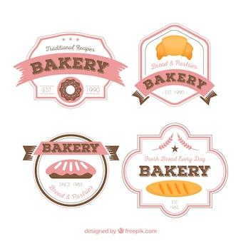 品質ベーカリーラベル、バッジおよびロゴは、セット