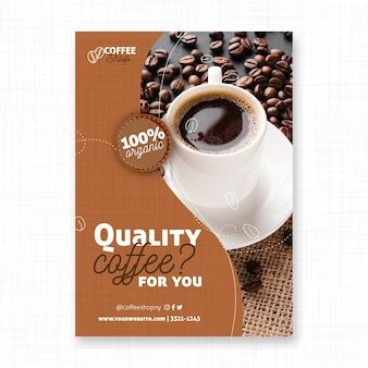 Quality coffee flyer print template