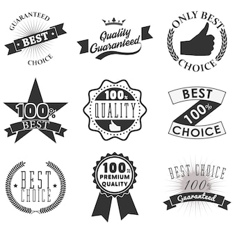 Quality emblems and labels
