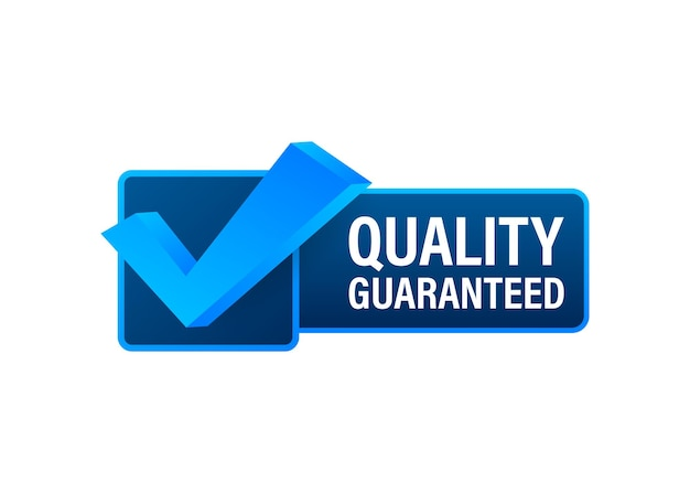 Quality guaranteed. check mark. premium quality symbol. vector stock illustration.