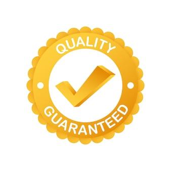 Quality guaranteed. check mark. premium quality symbol. vector stock illustration