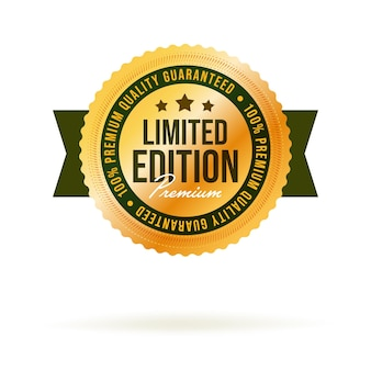 Quality guaranteed label for limited edition