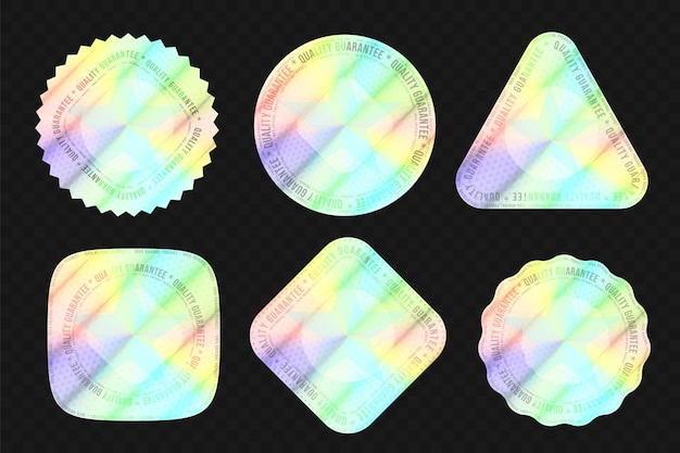 Качественная голографическая наклейка для подтверждения подлинности упаковки Premium векторы