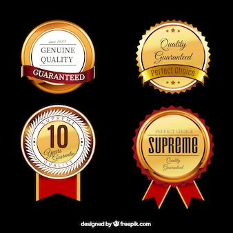 Quality labels collection Premium Vector