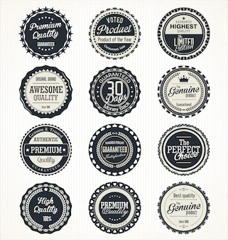 Quality retro vintage labels