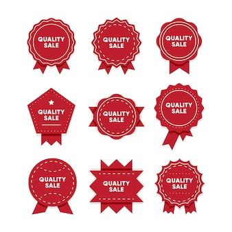 Quality sale. premium quality red badges set