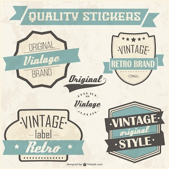 Quality stickers set