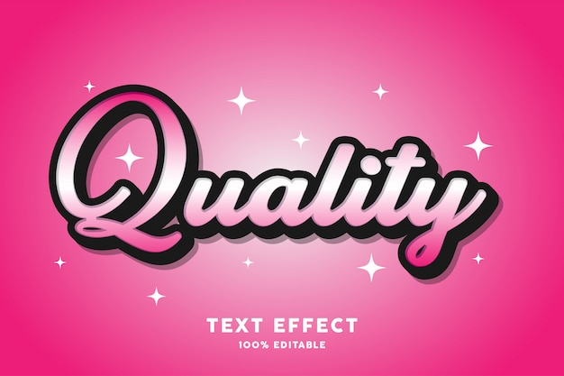 Quality - text effect, editable text
