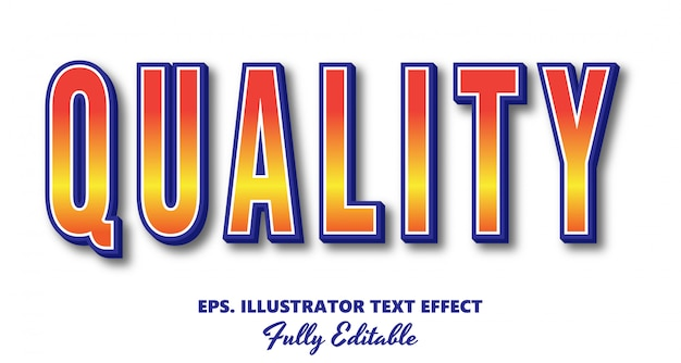Quality vector editable text effect