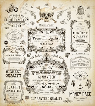Quality vintage certificate pattern classic