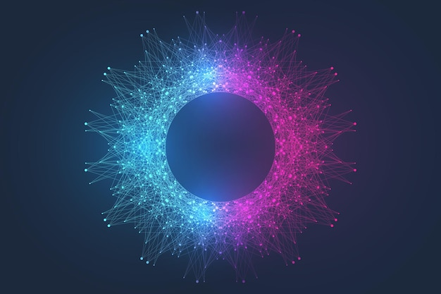 Квантовые компьютерные технологии визуализация взрыв фон