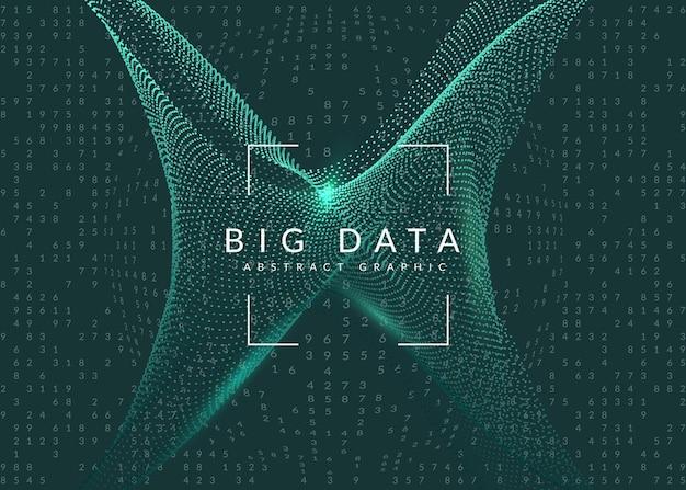 量子コンピューティングの背景。ビッグデータ、視覚化、人工知能、ディープラーニングのためのテクノロジー。コミュニケーションコンセプトのデザインテンプレート。未来的な量子コンピューティングの背景。