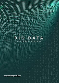 Quantum computing cover design. technology for big data