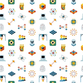 Quantum computing icons collection
