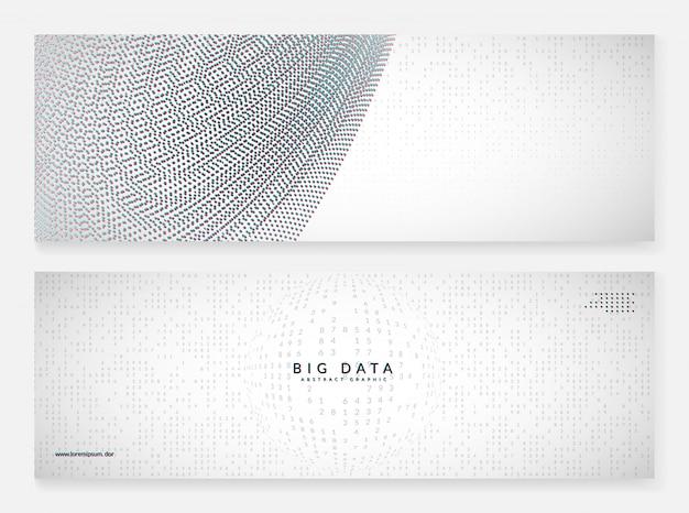Quantum innovation banner background. digital technology.