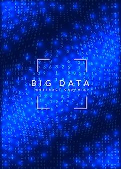 量子イノベーションコンピュータの背景。デジタル技術。人工知能、ディープラーニング、ビッグデータの概念 Premiumベクター
