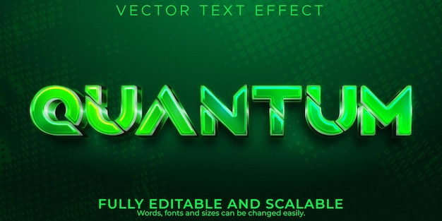Quantum metallic text effect, editable gaming and digital text style