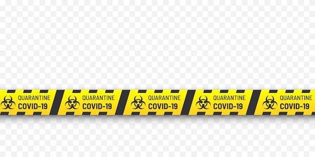 Quarantine biohazard danger.   yellow and black stripes. coronavirus covid-19  concept.